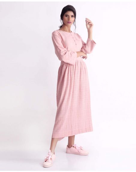 3X9T Sustainable Kala Cotton Pink Relax Dress