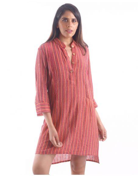 3X9T Sustainable Kala Cotton Indian Short Kurta