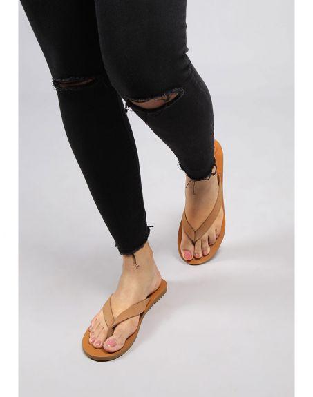 SEVDAH Summer Tan Sandal