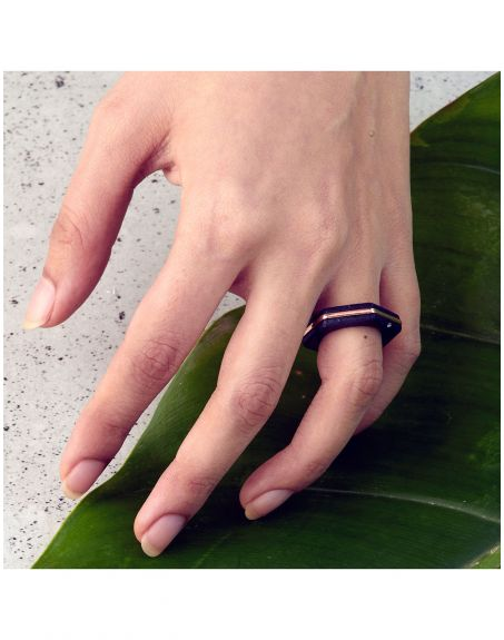 REAL STATE Cog ring Black Sterling silver