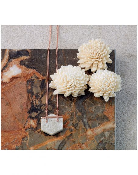 REAL STATE Honeycomb Necklace White Sterling silver