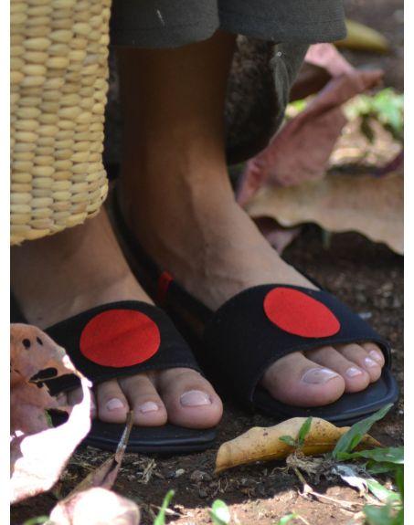 SOLE STORIES Bindi Backstraps-Black Red