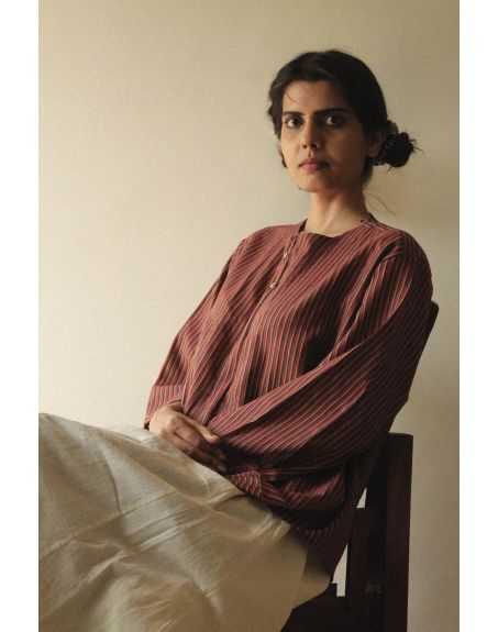 KILCHU INDIA Loose Fit Buttoned Shirt With Sleeve Detail