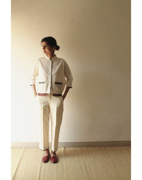 KILCHU INDIA Covered Placket Box Fit Shirt With Oversize Pockets