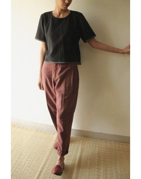 KILCHU INDIA Side Pleated Comfort Fit Trouser