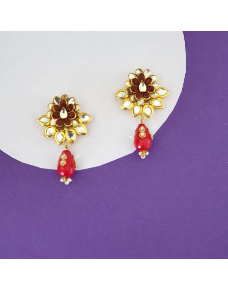 JAIPRI Designer Kundan Earrings