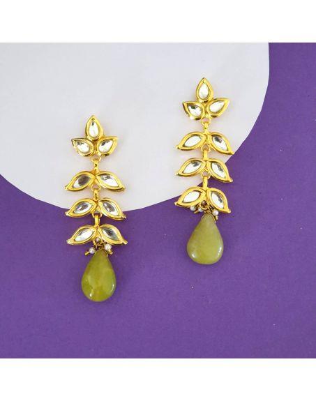 JAIPRI Kundan Earrings