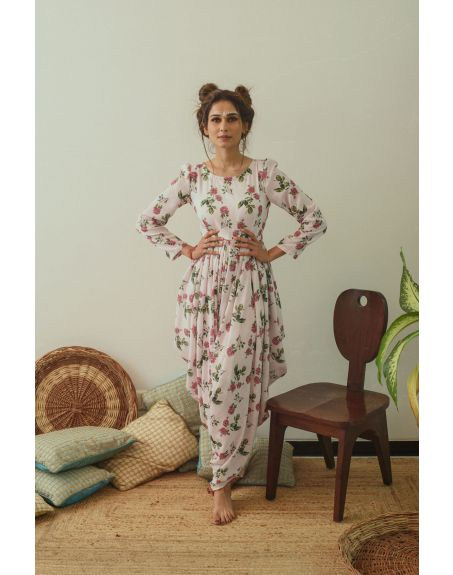 PASHA INDIA Cowled Soft Berry Jumpsuit