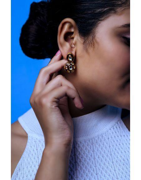 TIZORA Red Enamelled Earrings