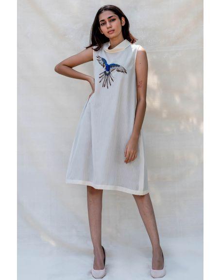 PURVI DOSHI Off-white Turtle Neck Dress