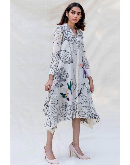 PURVI DOSHI Off-white Handkerchief Shirt Dress