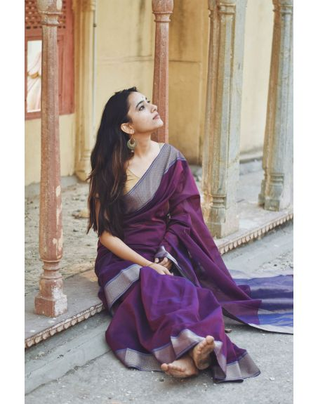 KAISORI Seher Maheswari Silk cotton saree