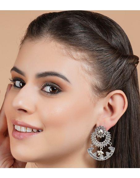 STUDIO B40 Silver Tone Brass Earrings STB40-3708