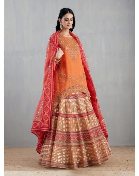 KAVITA BHARTIA Orange Sharara Set