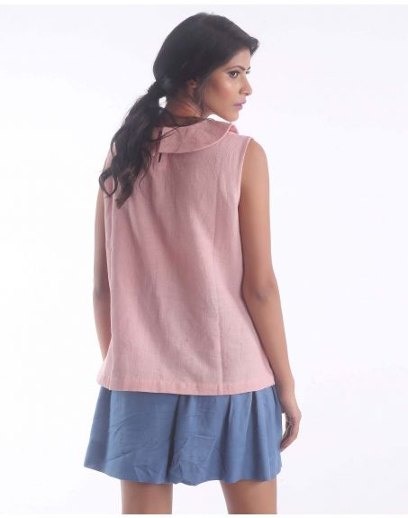 3X9T Sustainable Kala Cotton Peter Pan Pink Top