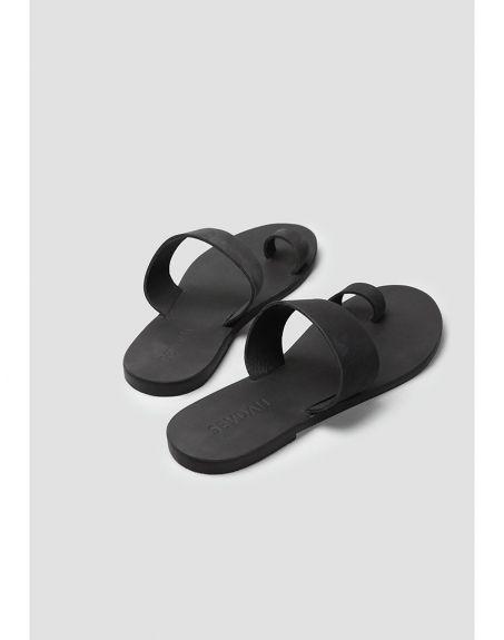 SEVDAH Raven Black Sandal