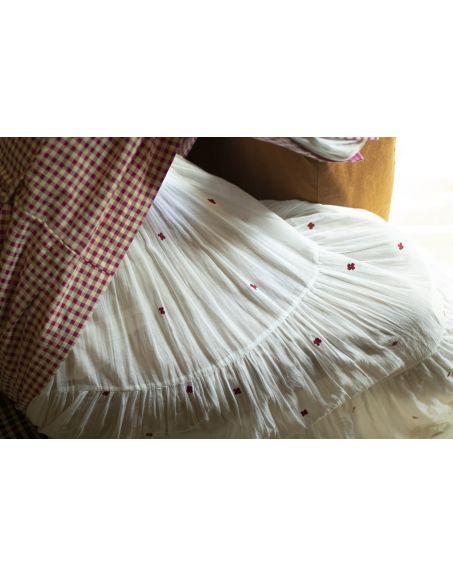 LABEL NIMBUS White Sleeveless Mul Layered Dress.