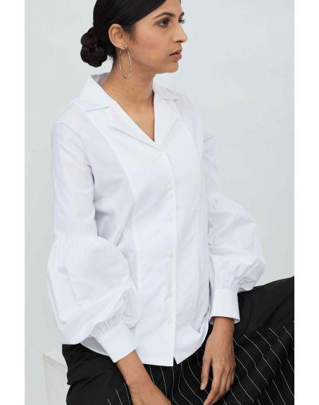 AAKAAR Puff Sleeve Shirt