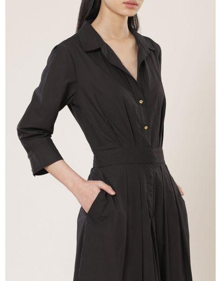 LABEL RITU KUMAR Collar Neck 3/4Th Sleeves Solid Jumpsuit