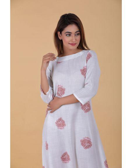PASHA INDIA Frosty White Dhoti Jumpsuit