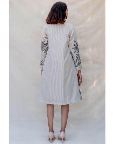 PURVI DOSHI Off-White Flap Collar Jacket