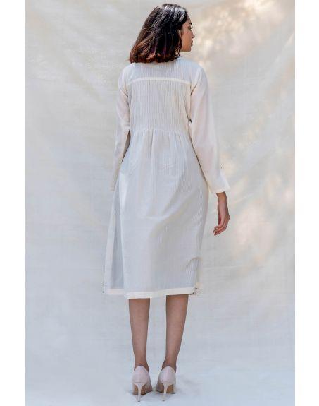 PURVI DOSHI Off-white Pintucks Dress