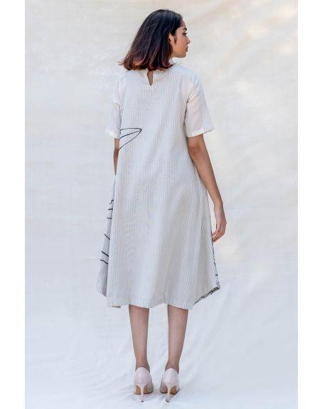 PURVI DOSHI Off-white High Neck Short Dress