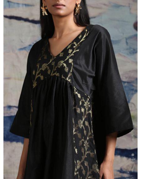 ABHISHTI Midi Dress With Yoke And Side Panels