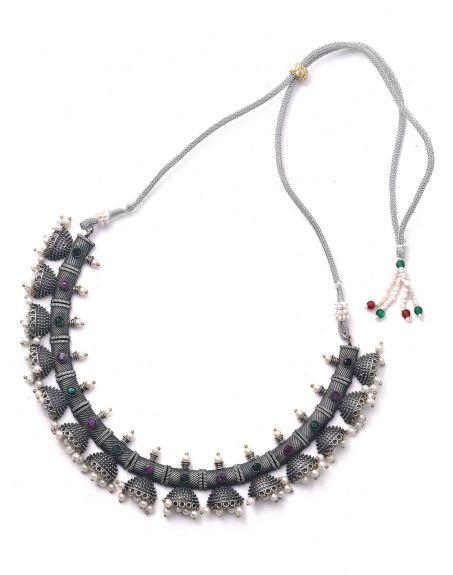 STUDIO B40 Silver Tone Brass Set Of Necklace & Earrings  STB40-3746