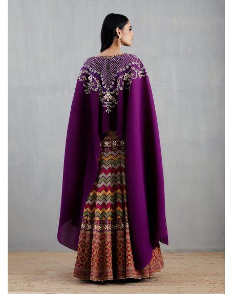 KAVITA BHARTIA Purple Poncho Dress