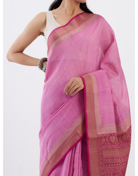 TRAVELLING TOTE Banarasi Munga Silk Saree