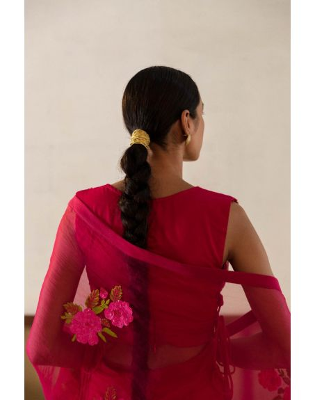 PEELI DORI Sahina Silk Organza Saree Set